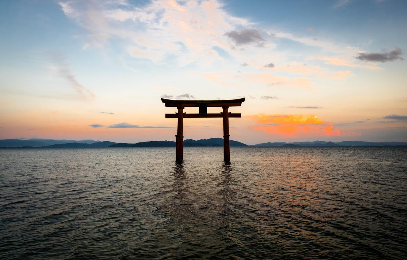 Wallpaper The Sky Landscape The Ocean Gate Japan Japan Torii