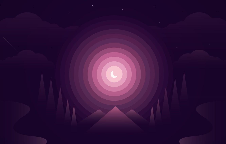 Wallpaper Purple Forest Gradient Images For Desktop Section Abstrakcii Download