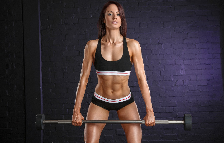 Photo wallpaper girl, female, workout, fitness