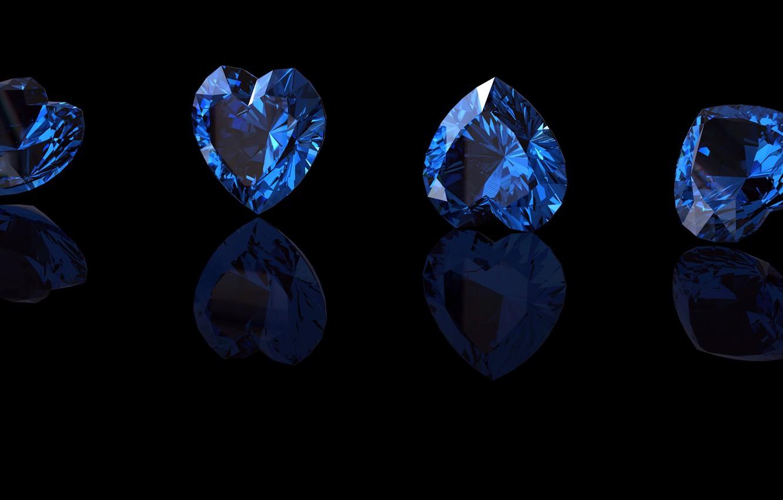 Wallpaper blue stone hearts sapphire images for desktop section download - Sapphire wallpaper ...