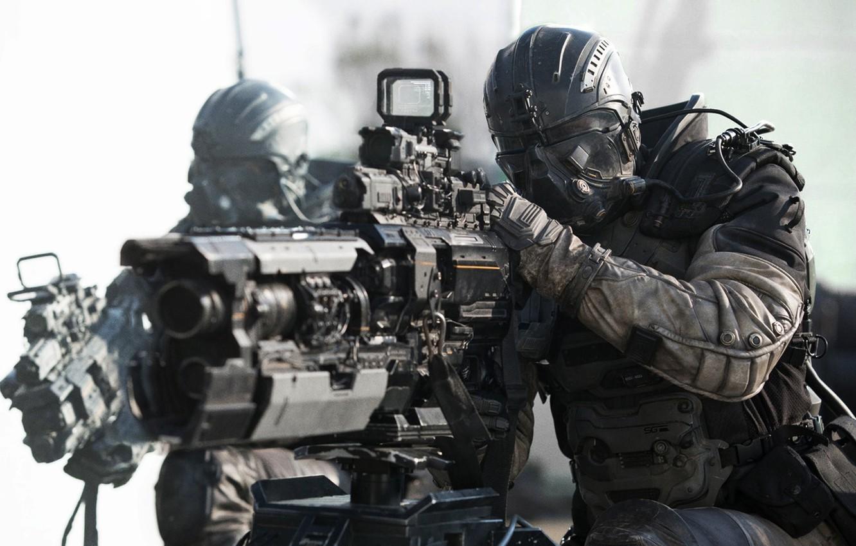 Photo wallpaper battlefield, gun, armor, weapon, survivor, movie, film, uniform, combat, seifuku, Netflix, solfier, Spectral