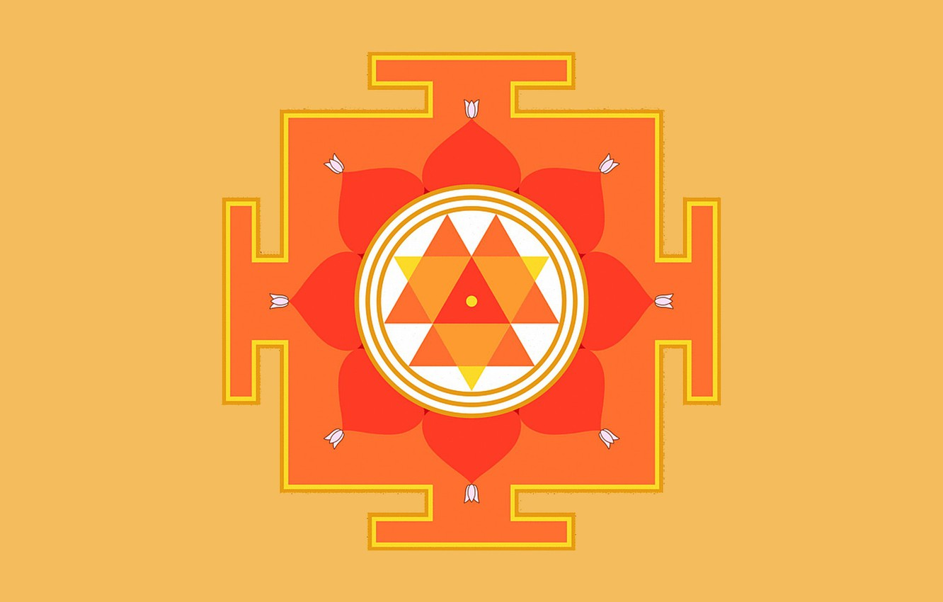 Photo wallpaper background, Yantra, the value, Durga