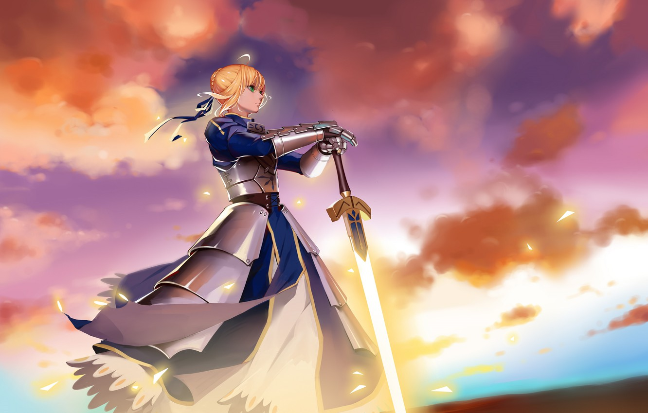 Photo wallpaper anime, art, character, the saber, Fate Grand Order