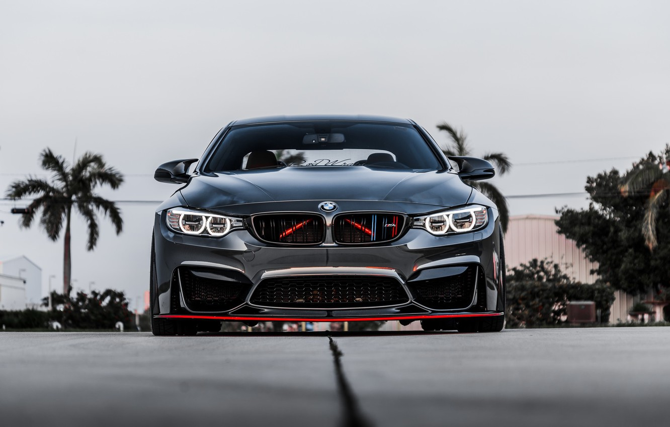 Photo wallpaper BMW, Front, Gray, Face, Strict, Sight, F83