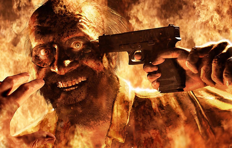 Wallpaper Fire Flame Gun Pistol Game Weapon Resident Evil