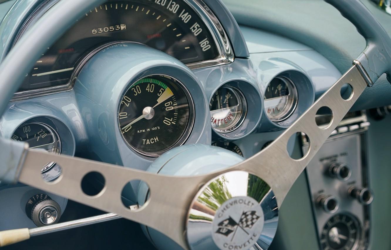 Photo wallpaper devices, Corvette, Chevrolet, the wheel