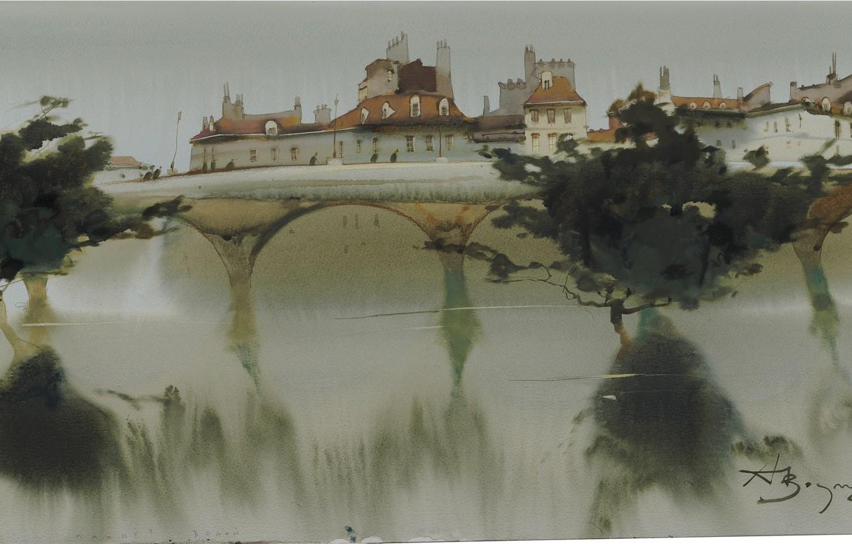 Photo wallpaper bridge, panorama, arch, Arusha Vozmus, Smells Of Water.