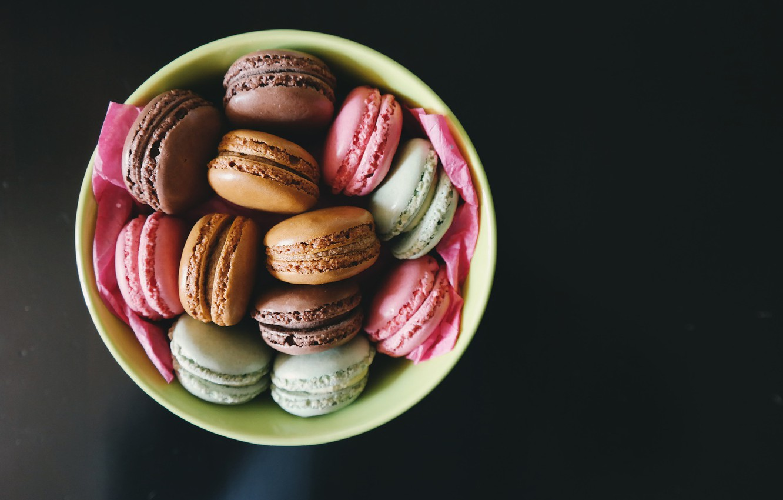 Photo wallpaper cookies, different, macaron, macaron