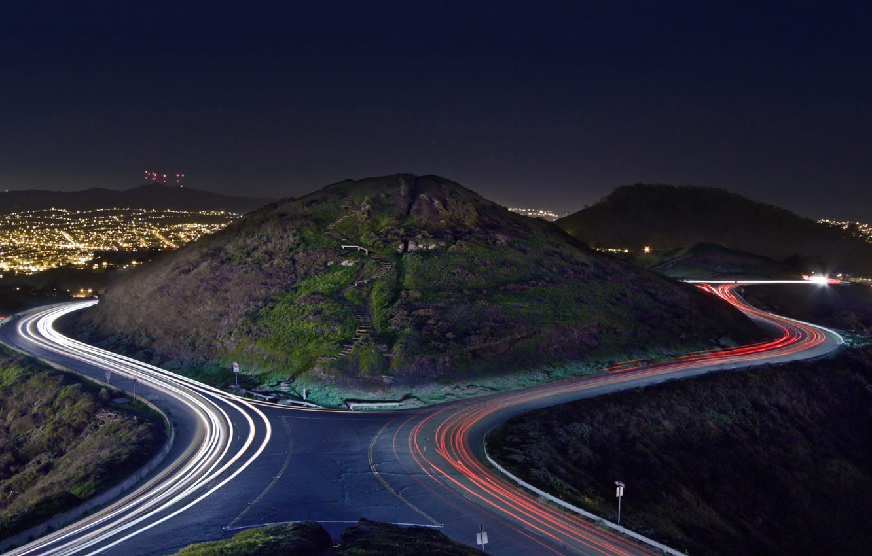 Wallpaper Night Lights San Francisco The Hills Of Twin