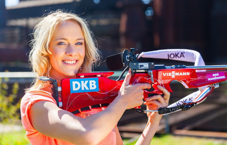 Photo wallpaper blonde, biathlon, biathlon, Maren Hammerschmidt, German biathlete, Maren Hammerschmidt