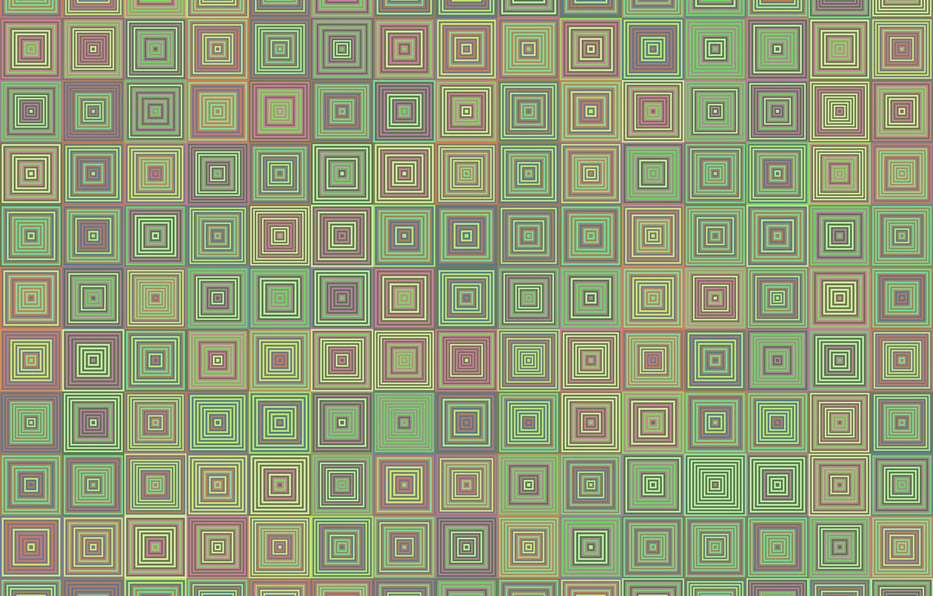 Photo wallpaper mosaic, abstract, geometry, square, background, mosaic, geometric, abstractia, concentric