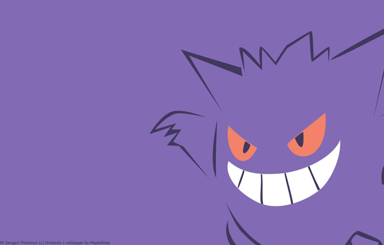 Photo wallpaper purple, eyes, smile, mouth, eyes, smile, poison, pokemon, pokemon, violet, Ghost, smile, poisonous, mouth, Gengar, …