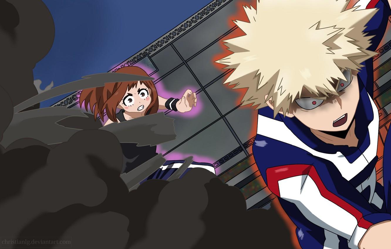 Photo wallpaper anime, art, Boku no Hero Academy, My hero Academy, Bakusou, Uraraka