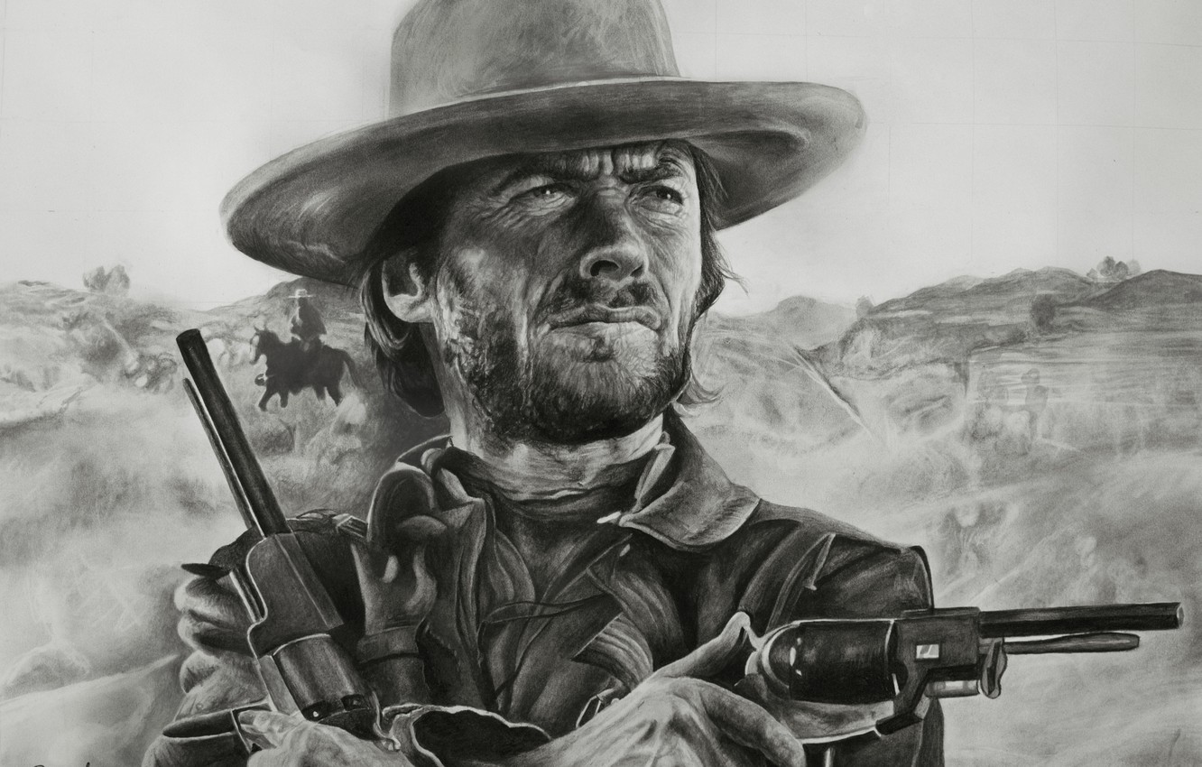 Photo wallpaper figure, Western, Clint Eastwood, Clint Eastwood