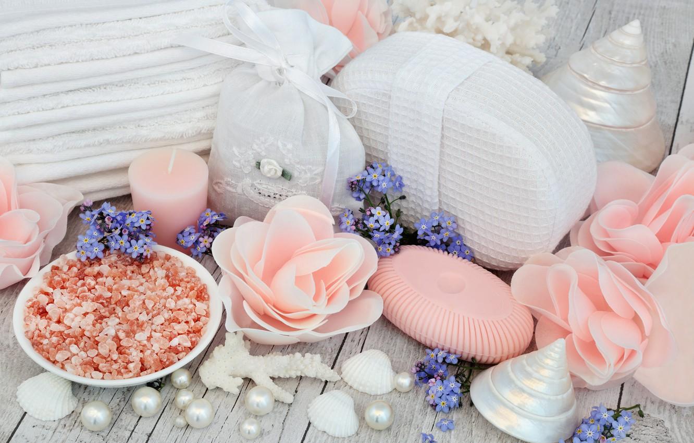 Обои salt, Spa, soap, towel, bath, candle. Разное foto 19
