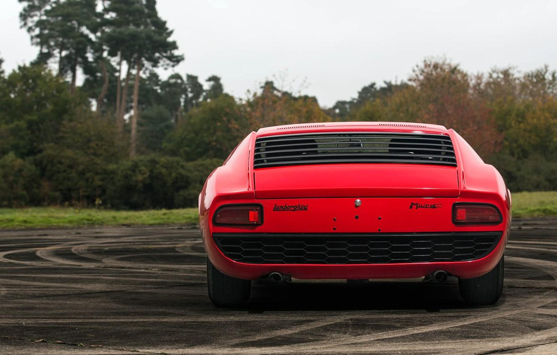 Photo wallpaper Red, Auto, Lamborghini, Retro, Machine, 1969, Car, Supercar, Miura, Lamborghini Miura, Italian, P400, Body, P400 …