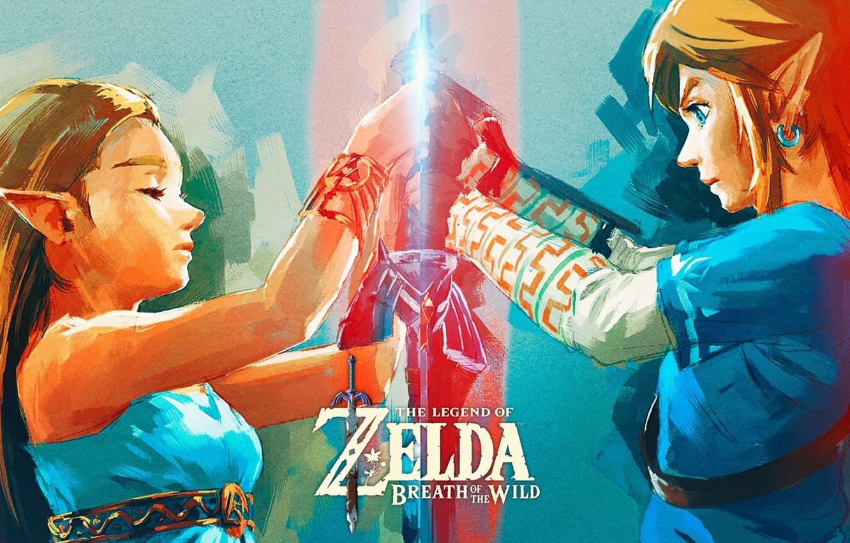 Wallpaper Art Nintendo The Legend Of Zelda Link Princess Zelda