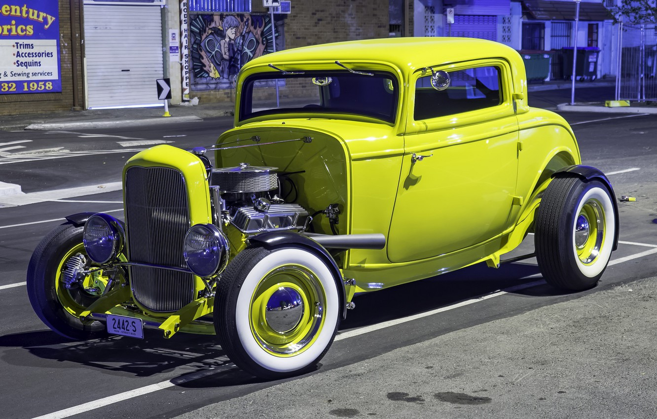 Photo wallpaper Ford, Model, Hot Rod, 1932, Custom