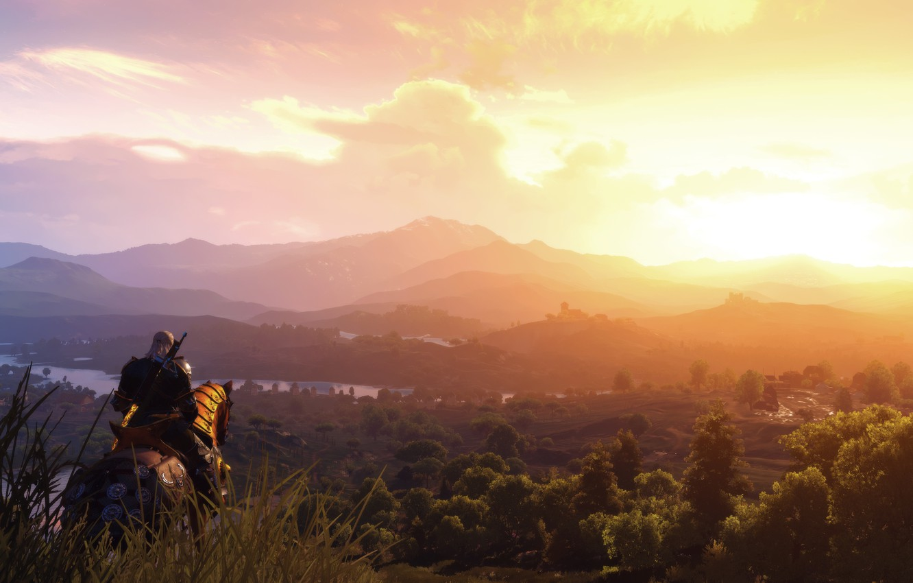 Wallpaper The Witcher 3 Blood Wine Rider Landscape Images For