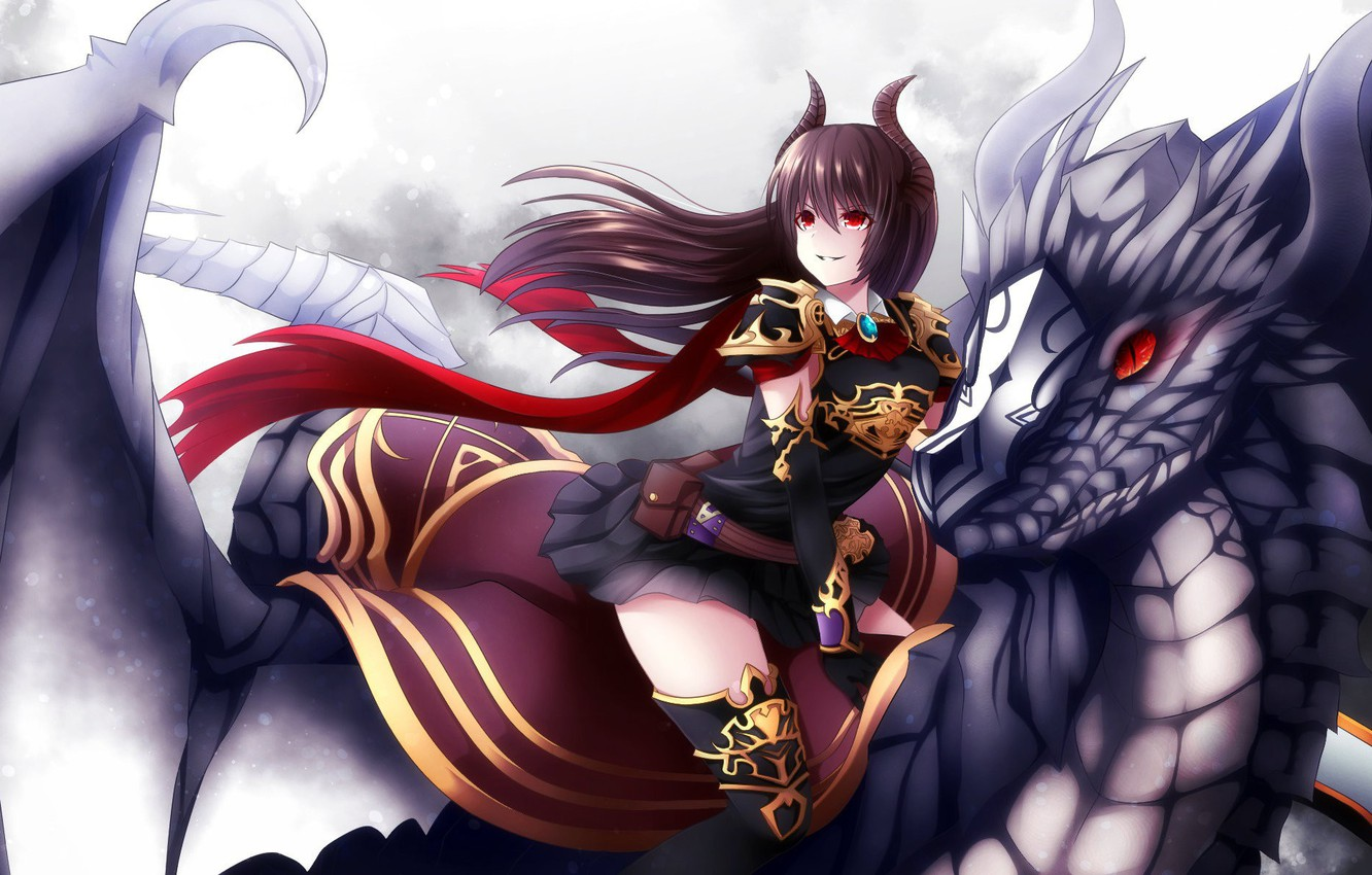 Wallpaper Girl Game Anime Dragon Japanese Granblue Fantasy