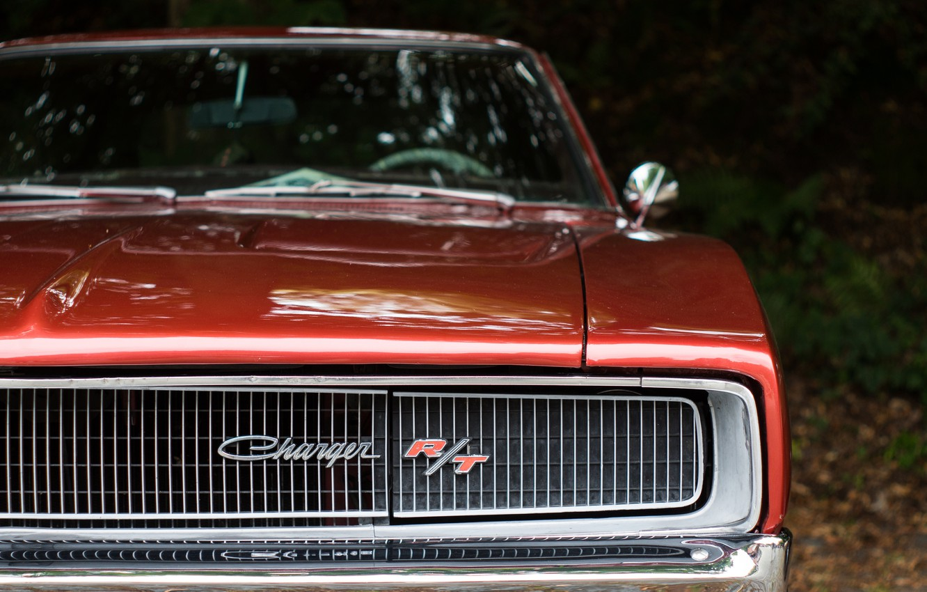 Photo wallpaper retro, grille, classic, Charger, Dodge Charger