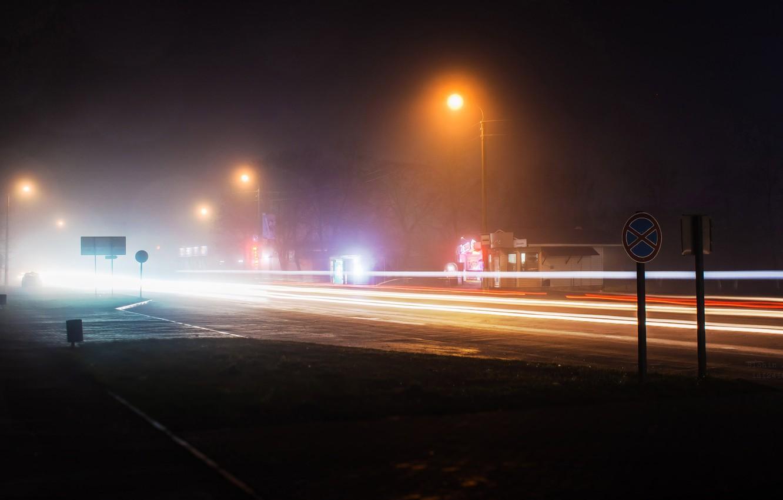 Photo wallpaper light, night, the city, lights, movement, home, the evening, excerpt, blur, lights, cars, beautiful, headlights, …