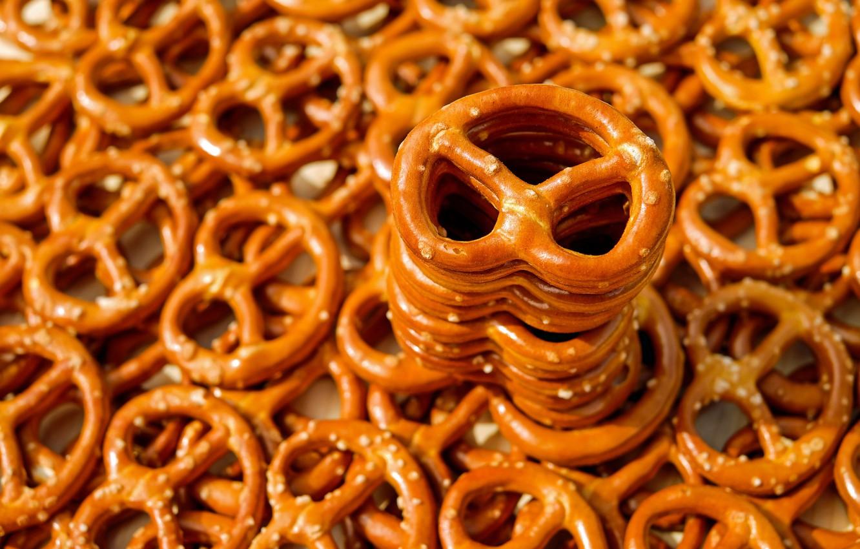 Photo wallpaper macro, a lot, cakes, the pretzels, pretzels
