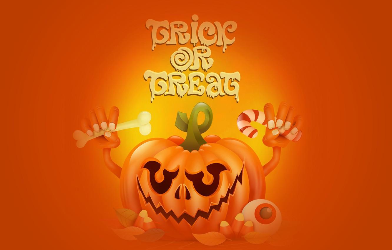 Photo wallpaper holiday, the inscription, pumpkin, Halloween