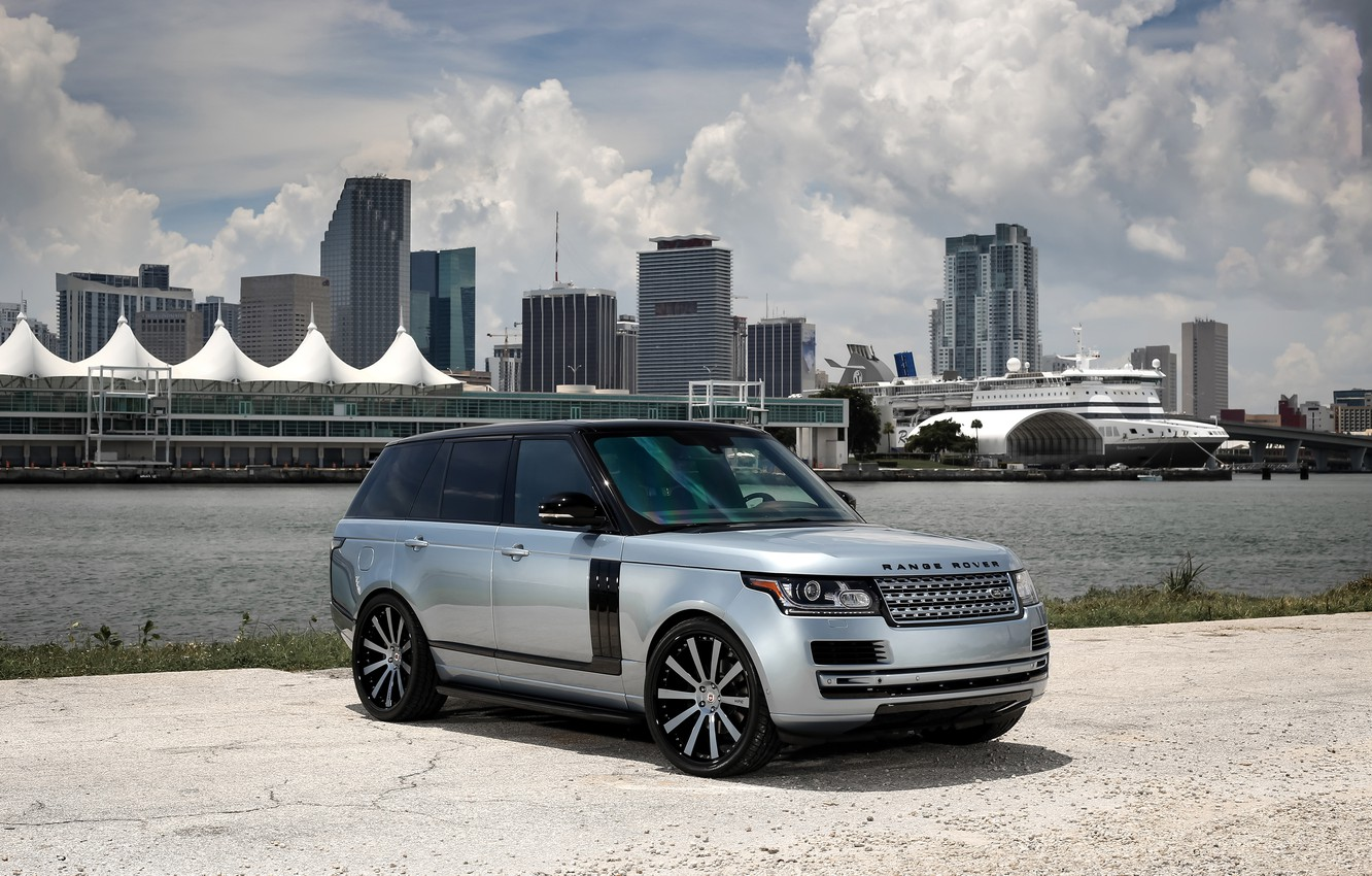 Photo wallpaper Range Rover, with, color, exterior, matched, customized