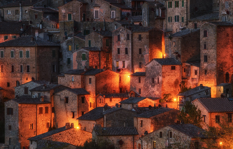 Photo wallpaper Italy, Tuscany, Sorano