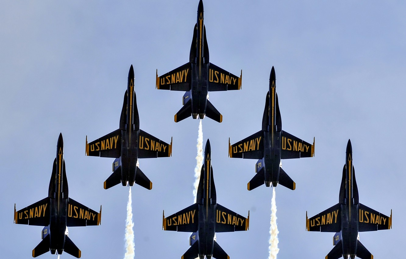 Photo wallpaper Blue Angels, United States Marine Corps, Air Show