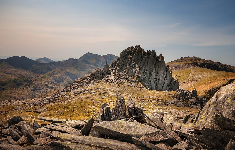 Photo wallpaper rocks, Wales, Snowdonia