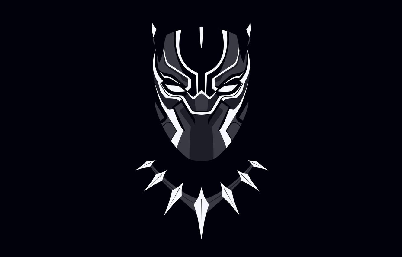 Photo wallpaper background, necklace, mask, black background, comic, Marvel Comics, black Panther, Black Panther