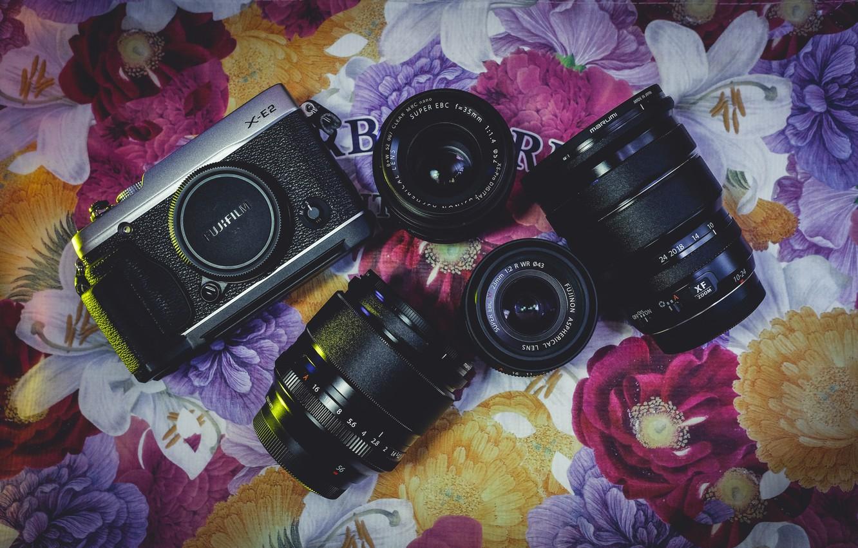 Photo wallpaper background, the camera, lenses