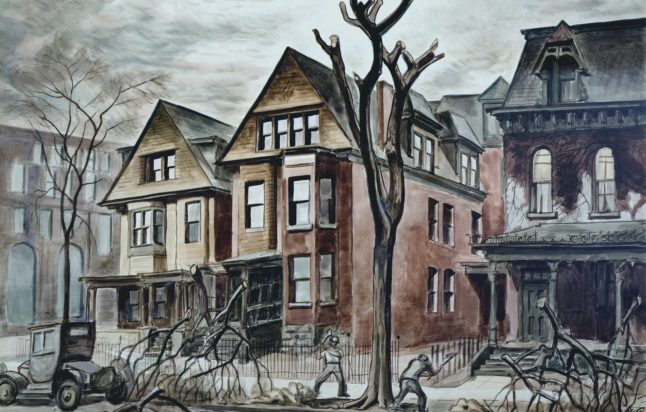 Photo wallpaper Charles Ephraim Burchfield, 1927-28, Civic Improvement