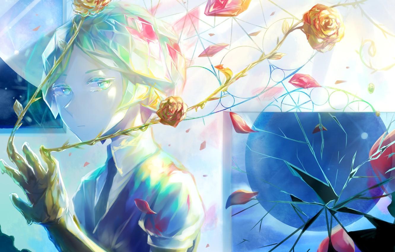 Photo wallpaper look, girl, roses, House no Kuni