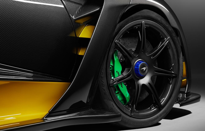 Photo wallpaper McLaren, wheel, 2018, Senna, MSO, Carbon Theme