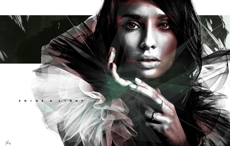Photo wallpaper girl, face, portrait, art