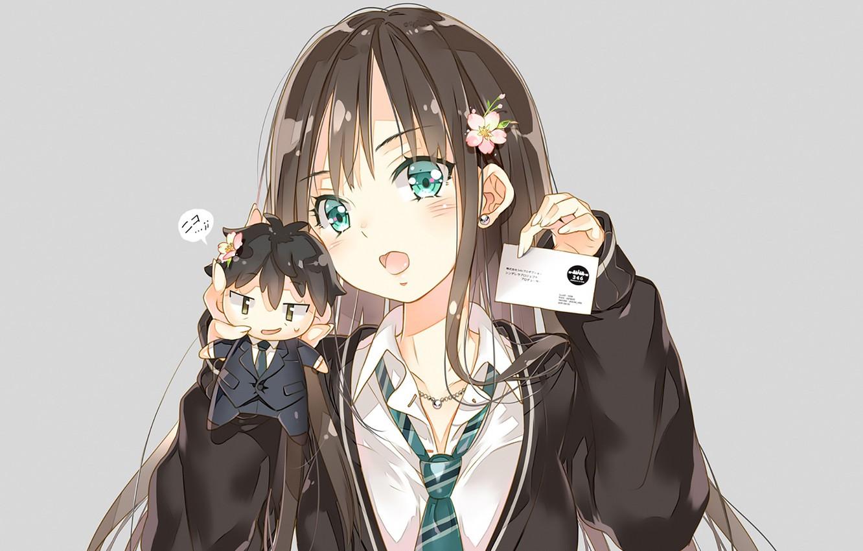 Photo wallpaper girl, toy, badge