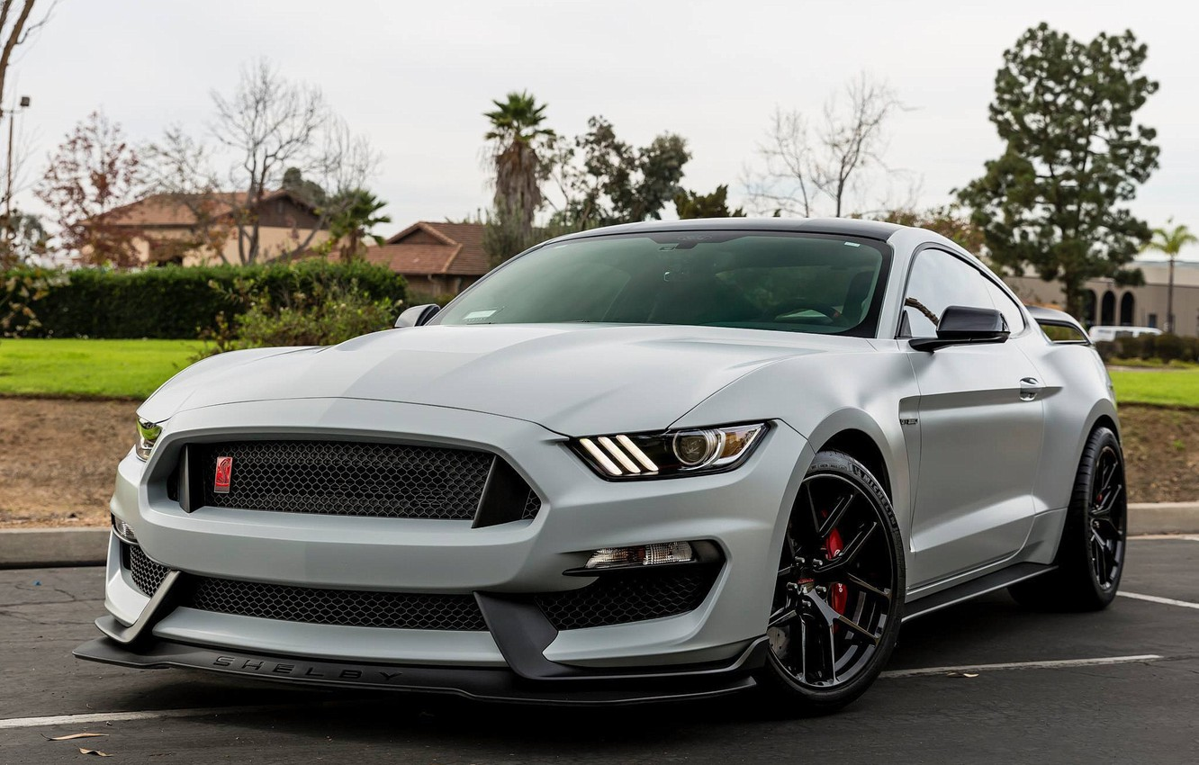 Photo wallpaper Mustang, Ford, One, Forged, Wheels, GT350R, Piece, Forgeline, Monoblock, VX1R