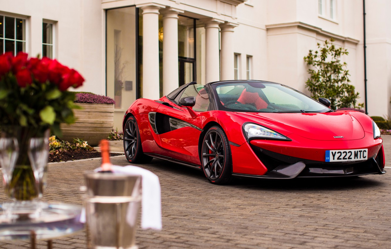 Photo wallpaper red, McLaren, supercar, 2018, 570S