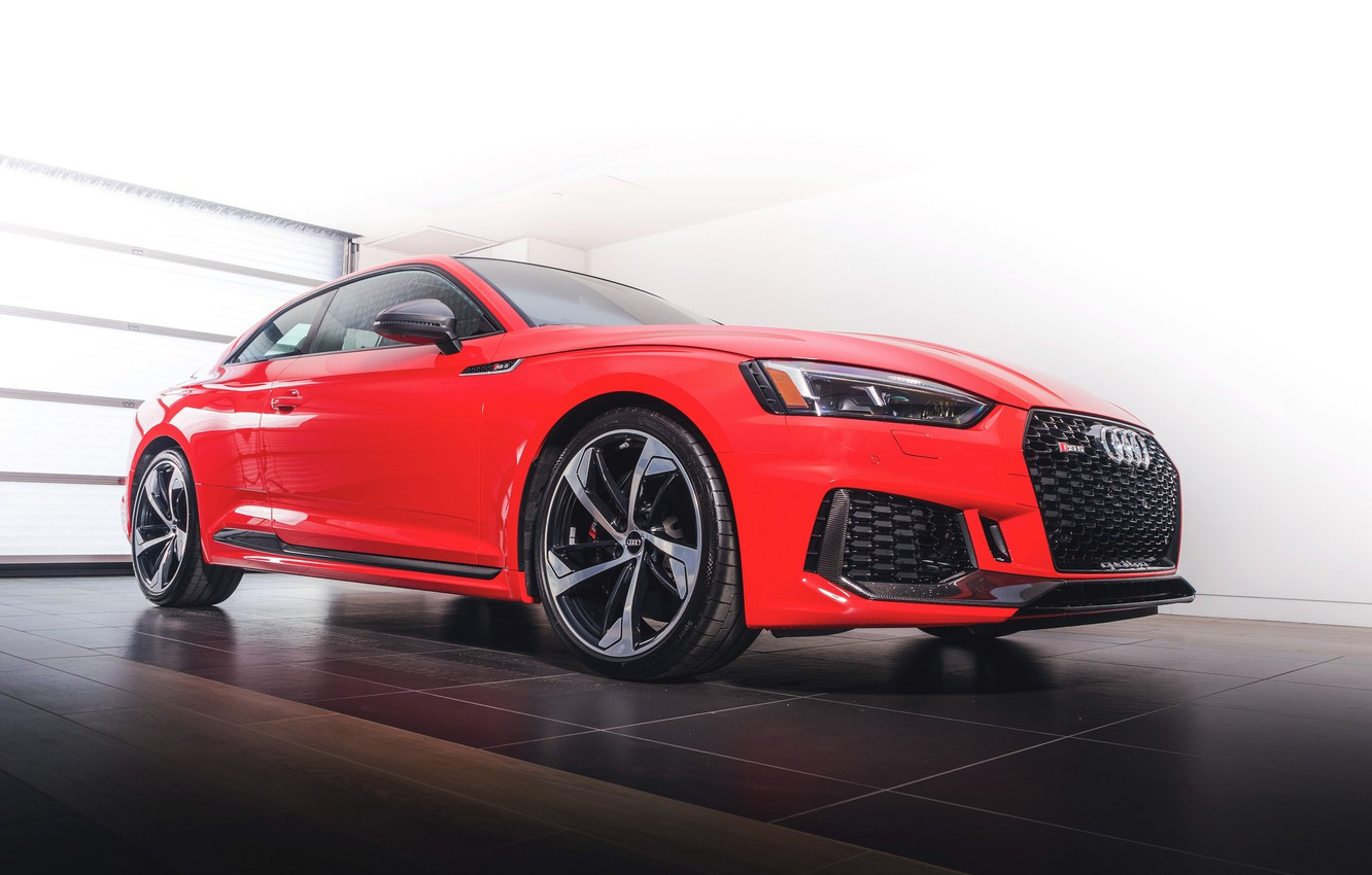 Photo wallpaper Audi, red, RS5, 2018