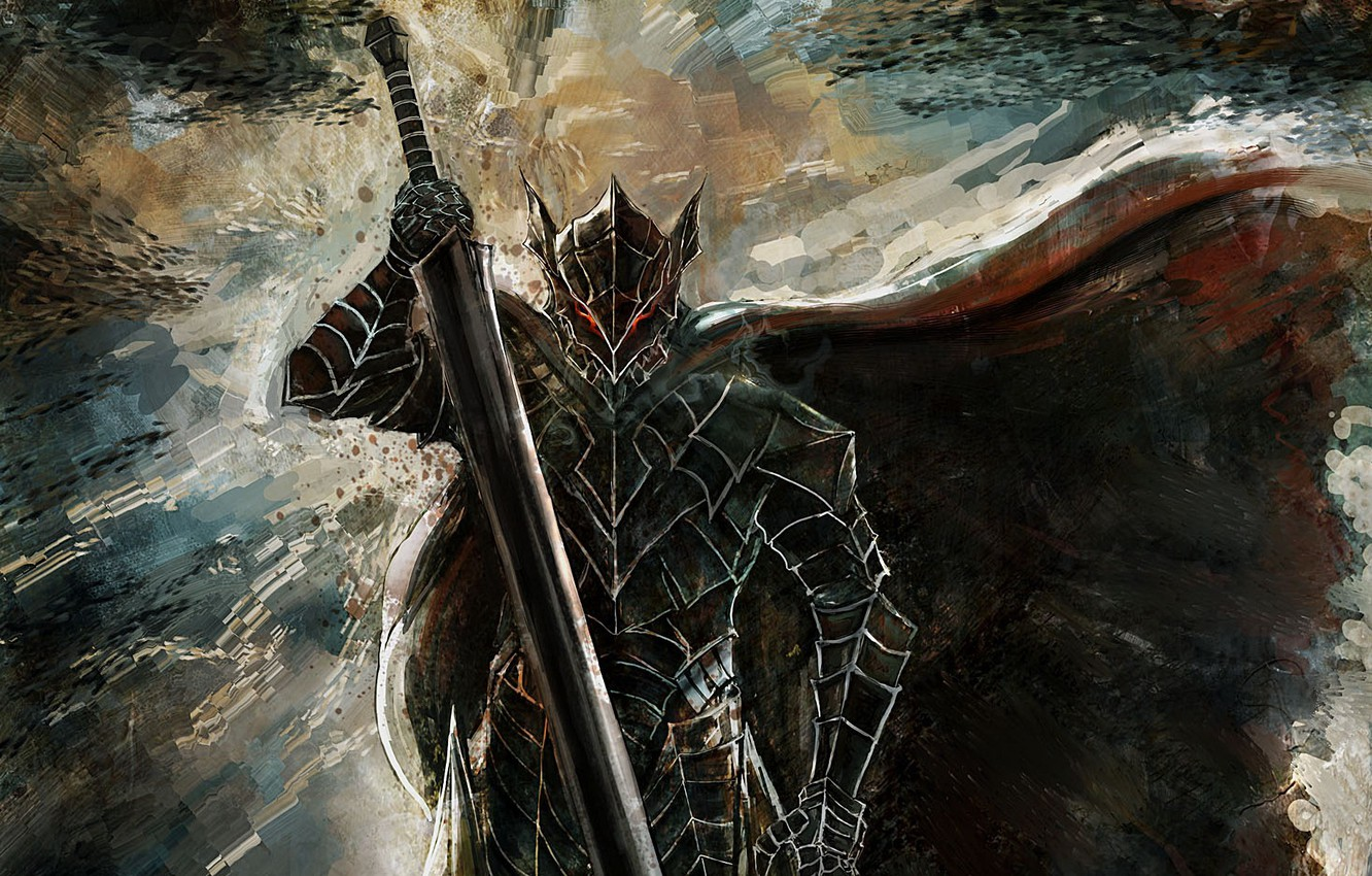 Wallpaper Sword Game Monster Armor Fox Anime Man Ken Blade