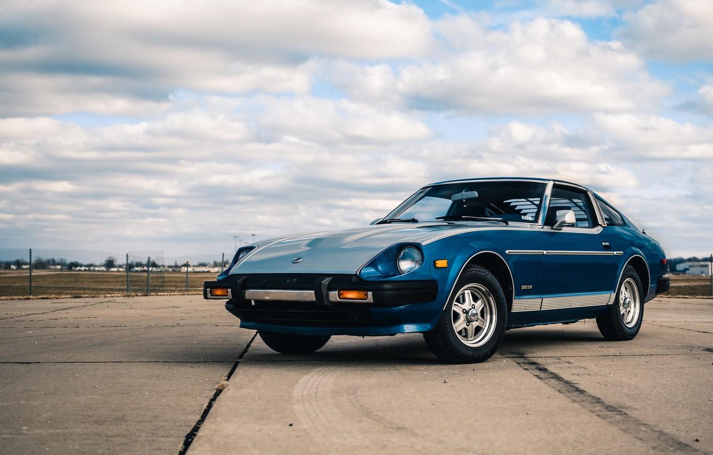 Photo wallpaper Blue, Datsun, 280ZX