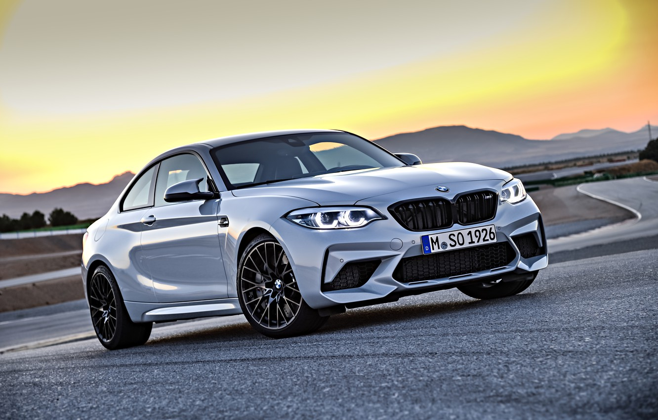 Photo wallpaper the sky, asphalt, coupe, track, BMW, 2018, F87, M2, M2 Competition