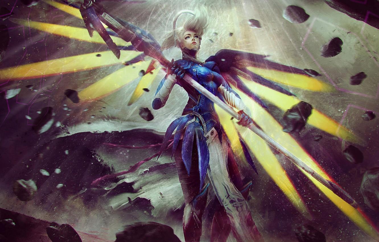 Wallpaper Look Art Beauty Blizzard Overwatch Mercy