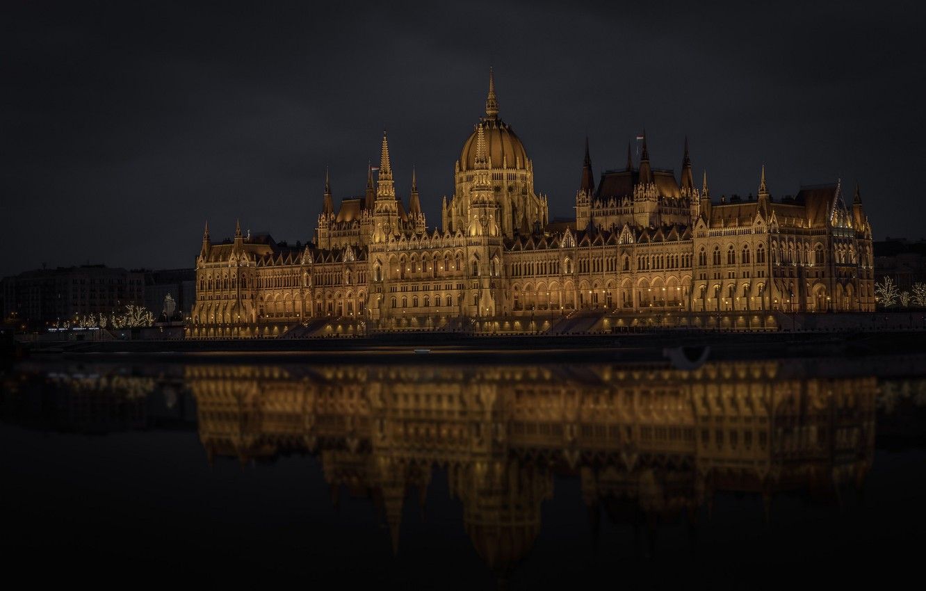 Photo wallpaper river, Parliament, Hungary, Budapest, The Danube