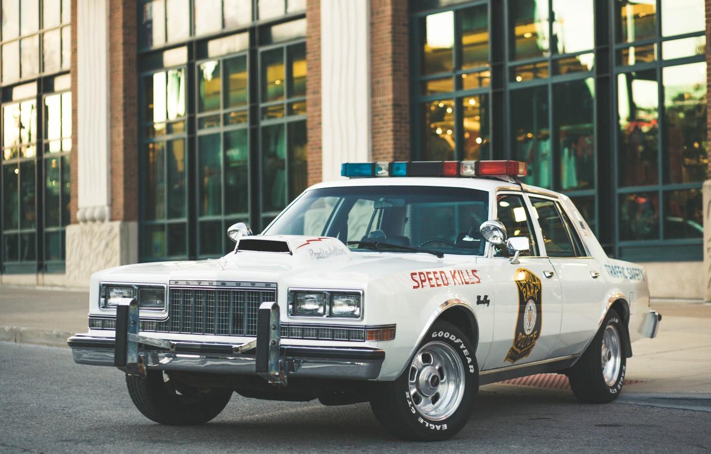 Photo wallpaper auto, the city, street, police car