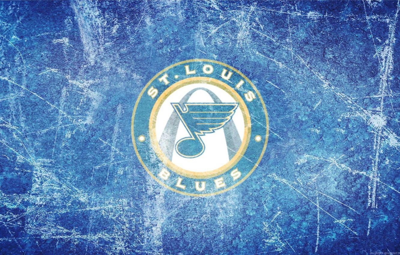 Photo wallpaper ice, wing, emblem, note, NHL, NHL, St. Louis Blues, St. Louis Blues, hockey club