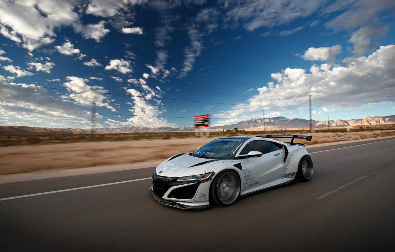 Photo wallpaper Honda, speed, Acura, NSX, Liberty Walk, Larry Chen